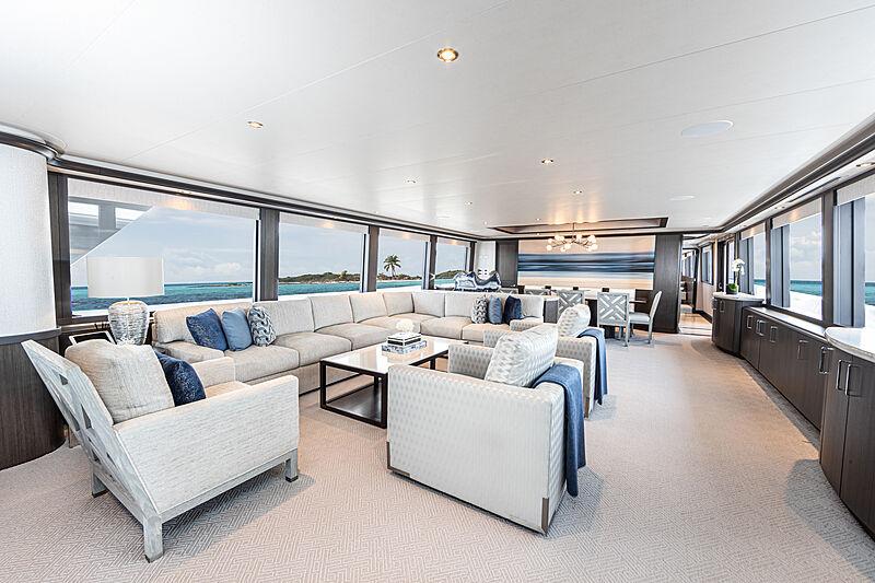 No Bad Ideas yacht saloon