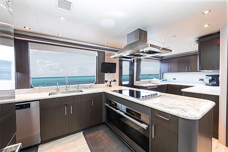 No Bad Ideas yacht galley