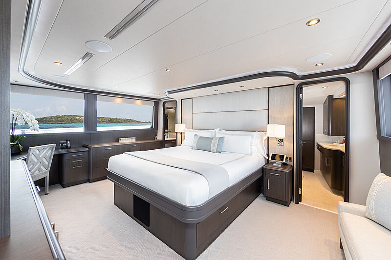 No Bad Ideas yacht stateroom