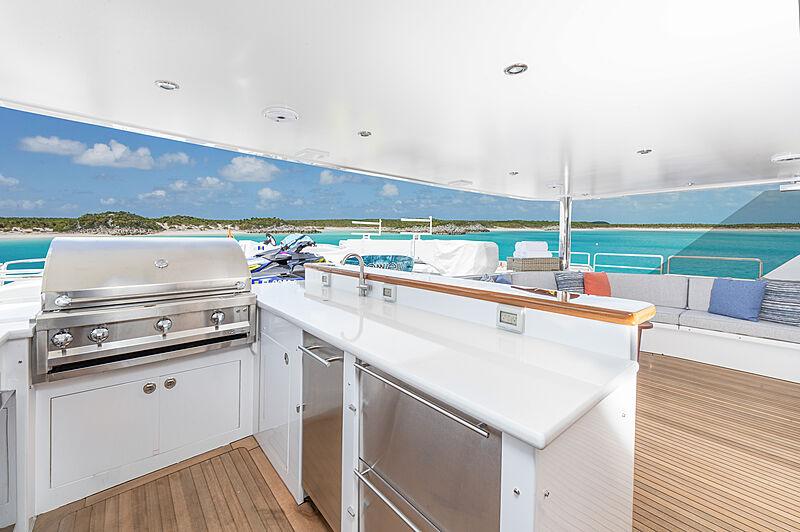 No Bad Ideas yacht upper deck