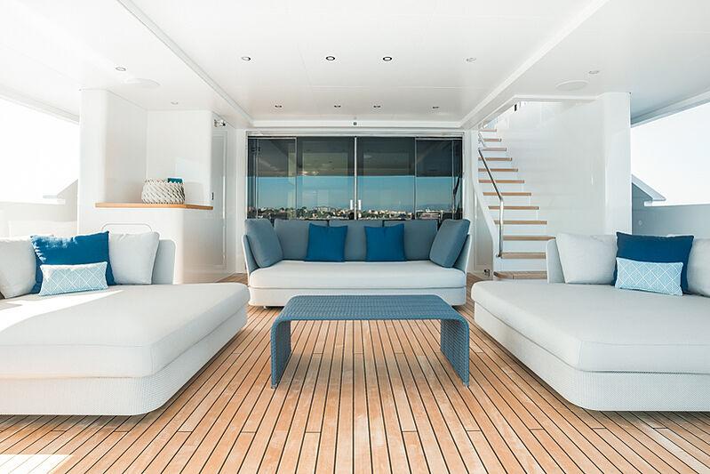 Astrum yacht main aft deck