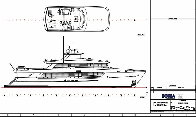 Lorraine yacht conversion general arrangement plan