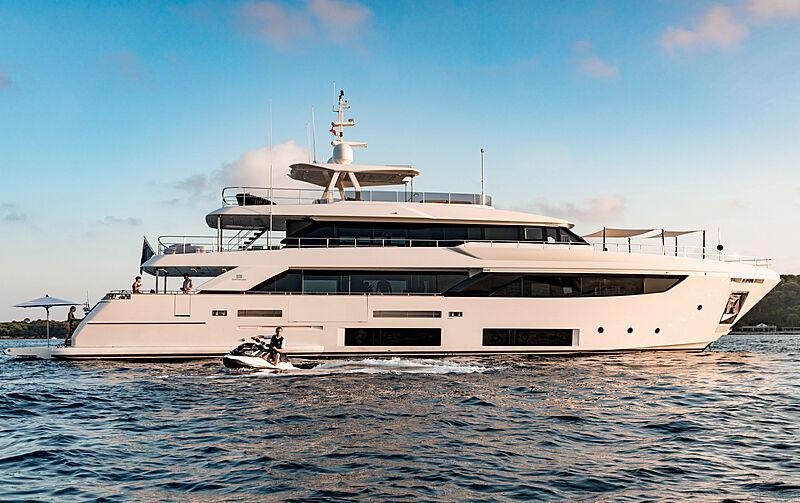 December Six yacht at anchor