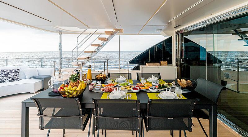 December Six yacht deck