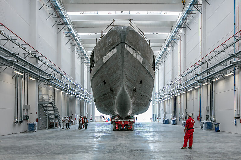 Voice yacht under construction