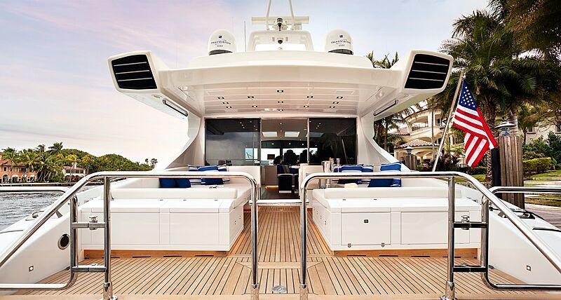 My Toy yacht aft deck