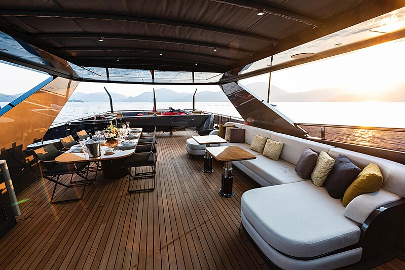 Sea Star yacht upper deck