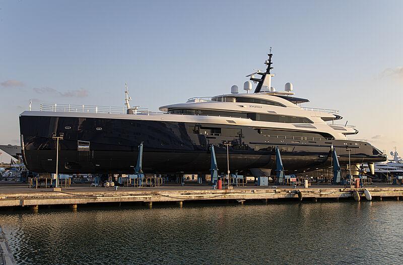 Zazou yacht launch at Benetti Livorno