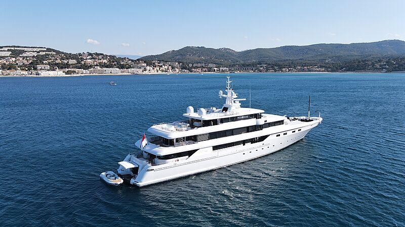 Moneikos yacht anchored off Bandol