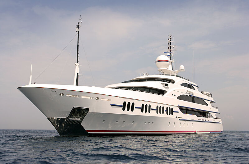 Ambrosia yacht anchored