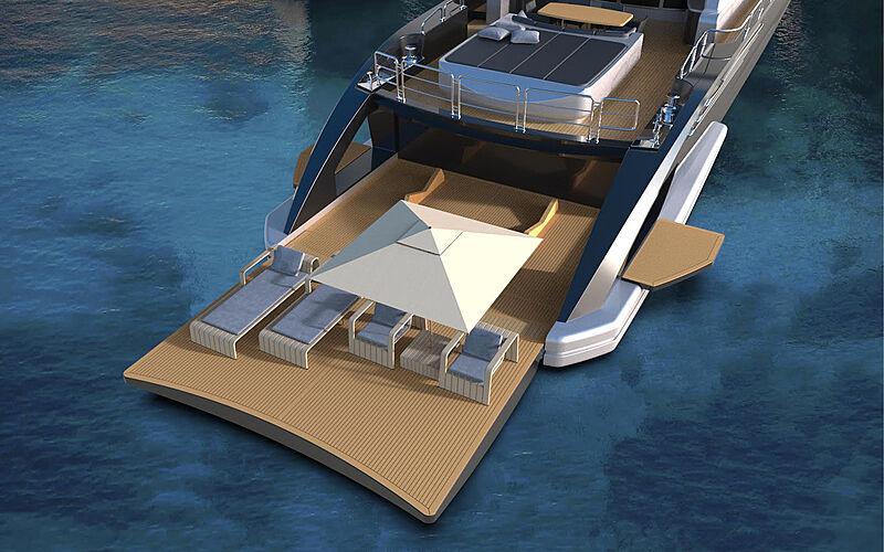 Leopard 36m yacht concept exterior design