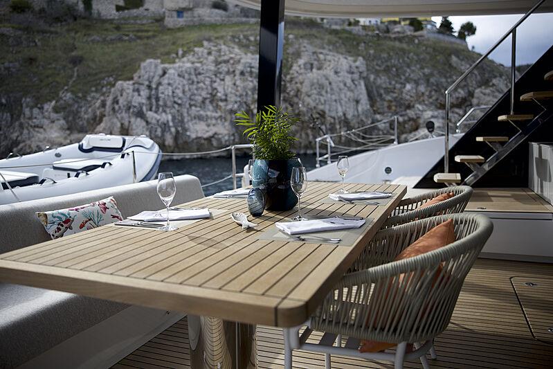 Fantastic Too yacht aft deck