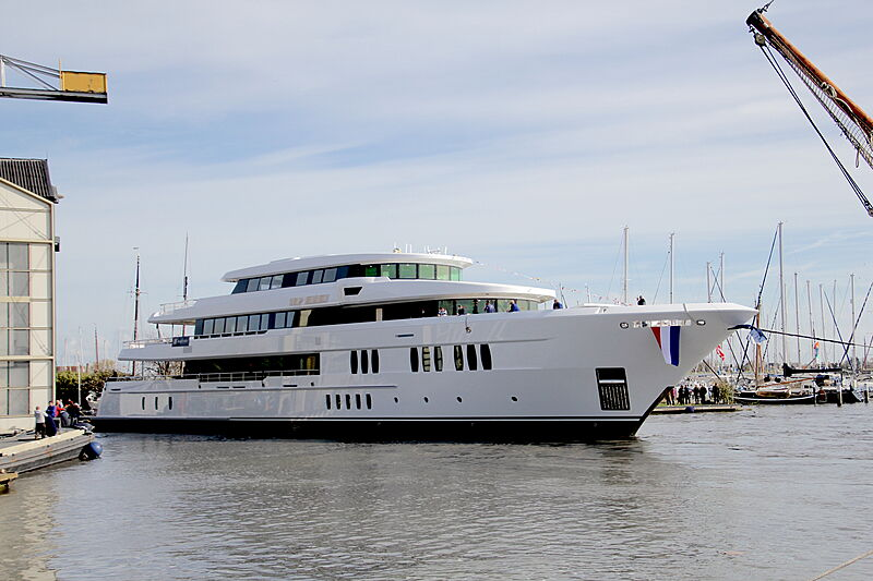 Project Sidney yacht launch at Hakvoort