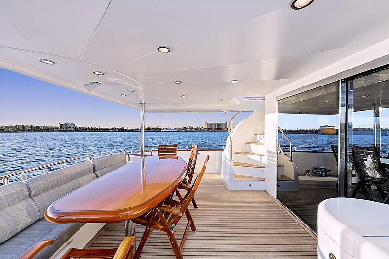 Papa's Place yacht aft deck