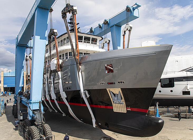 Audace yacht refit in Viareggio