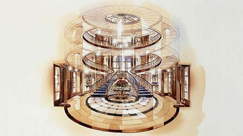 Royal yacht Britannia staircase interior design