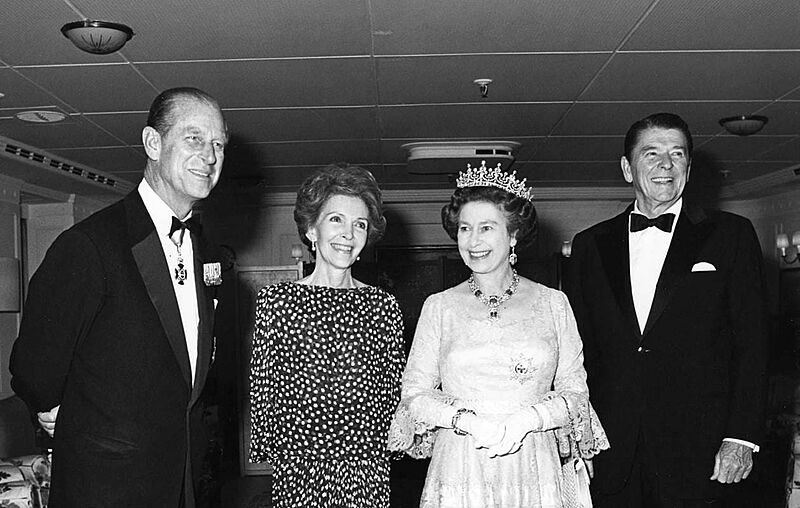 Royal yacht Britannia guests
