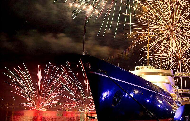 Royal yacht Britannia at NYE