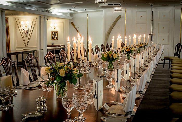 Royal yacht Britannia dining