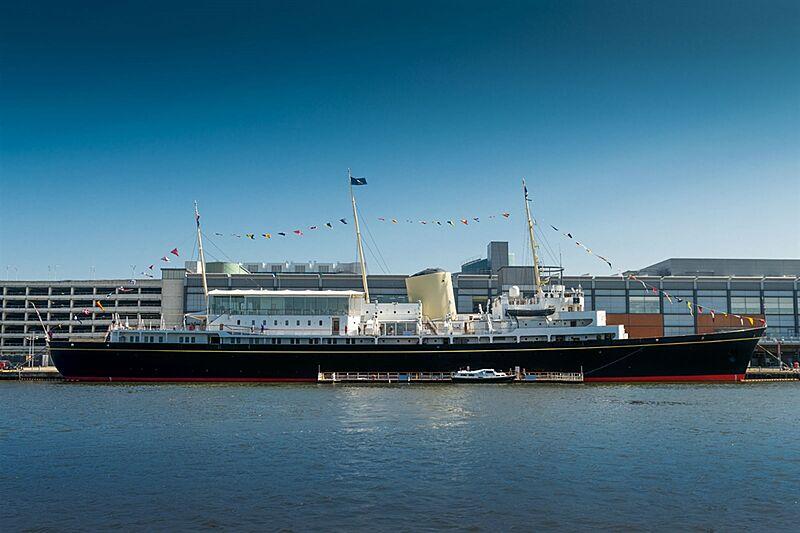 Royal yacht Britannia as museum in Leith