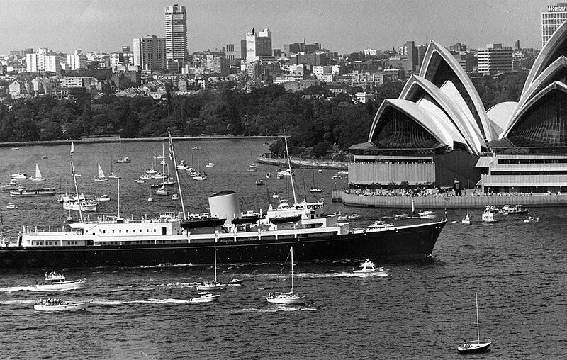 Royal yacht Britannia in Sydney