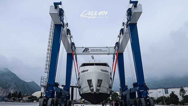 Elada EX87 yacht launch