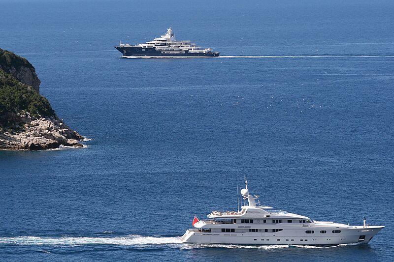 Ulysses and Petara yachts in Lokrum, Croatia