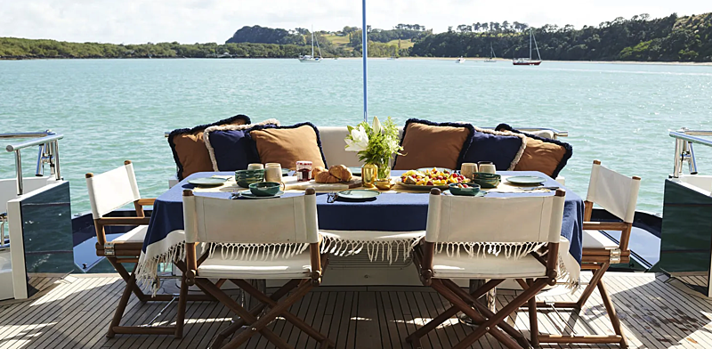 Willow yacht aft deck