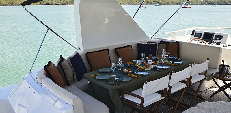 Willow yacht upper deck