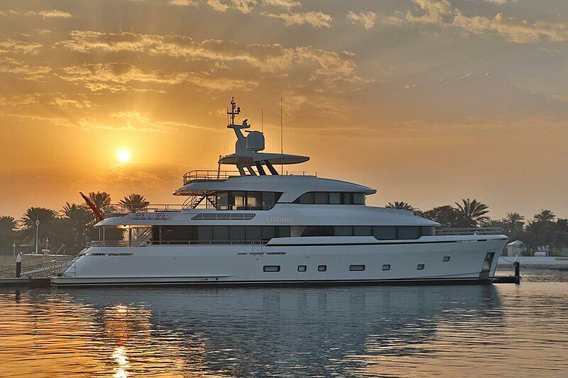 Kokoro yacht in Bahrein at sunset
