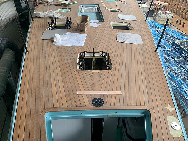 Momi 80 yacht under construction in Viareggio