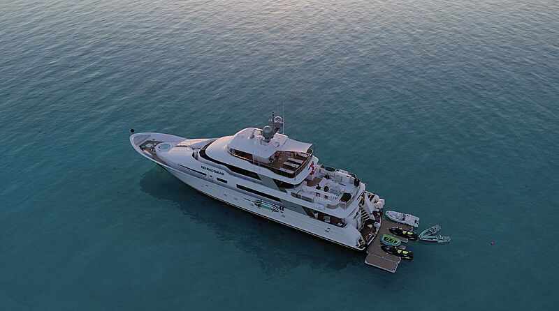 No Bad Ideas yacht anchored