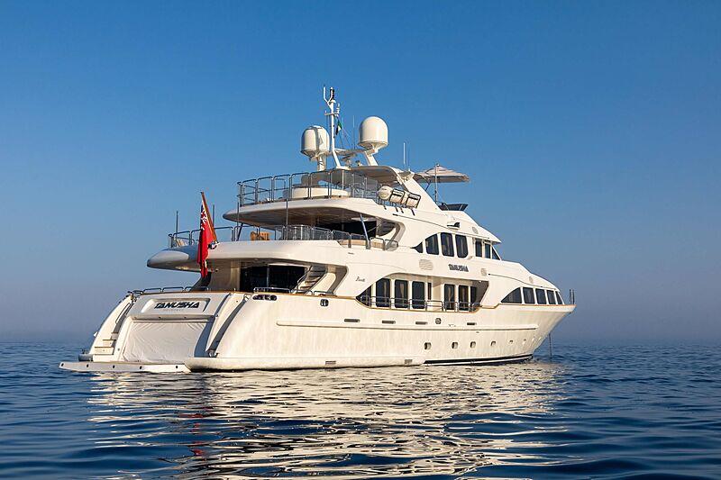 Tanusha yacht anchored
