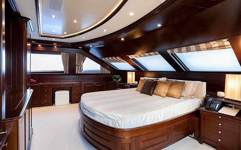 Tanusha yacht master stateroom