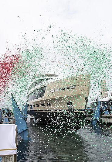Hawa yacht launch at Benetti