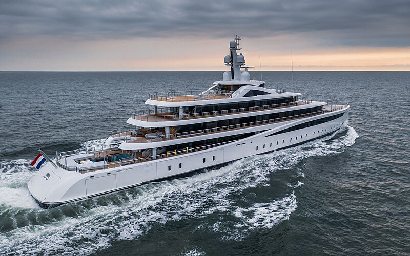 Viva yacht by Feadship sea trials