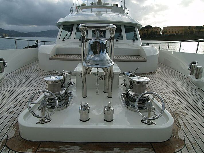 Moon River yacht foredeck