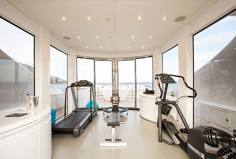 Eleni yacht gym