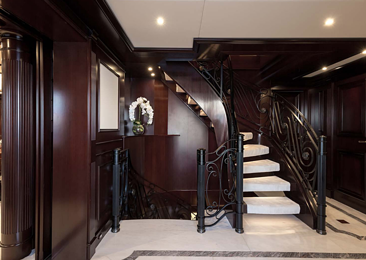 Eleni yacht staircase