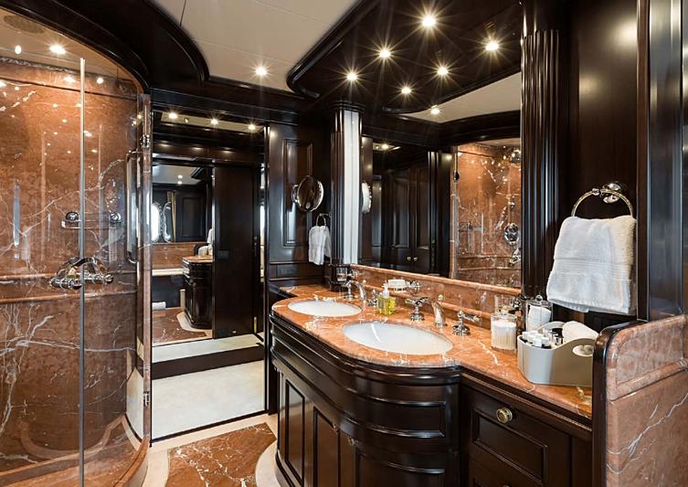 Eleni yacht bathroom