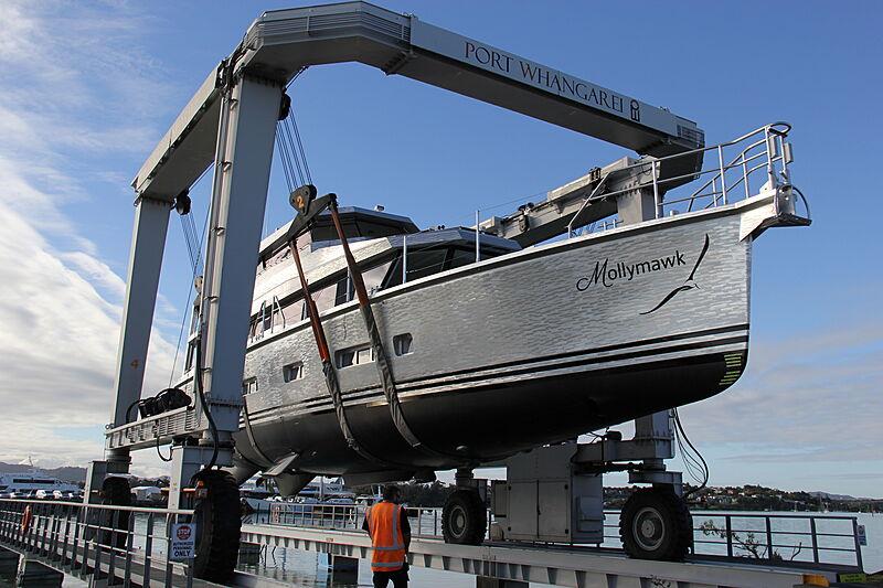 Mollymawk yacht launch at Circa Marine