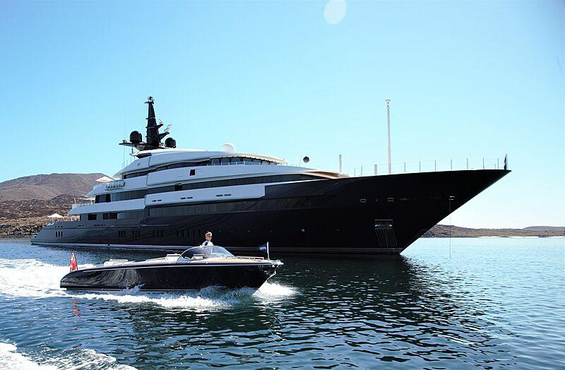 Seven Seas yacht at anchor