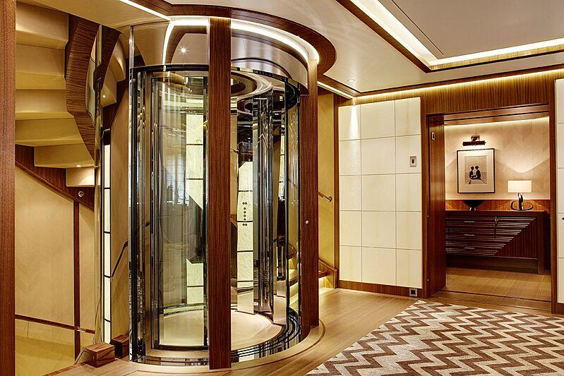 Seven Seas yacht lobby