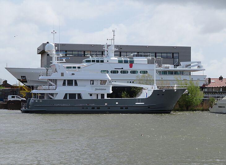 Sandalphon and Azteca yachts at Balk Shipyard