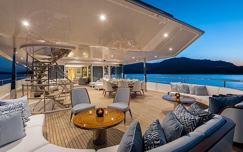 Joy yacht aft deck