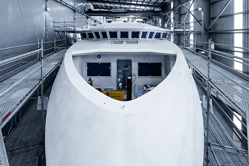 SeaXplorer 58 under construction at Damen Shipyard