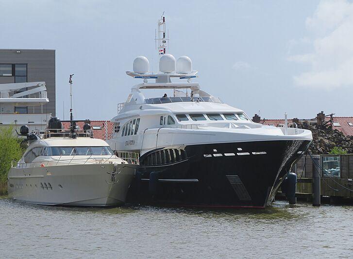 Bagheera and Stormborn yachts at Balk Shipyard