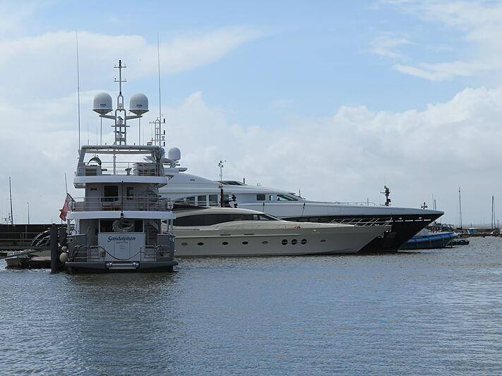 Sandalphon, Bagheera and Stormborn yachts at Balk Shipyard