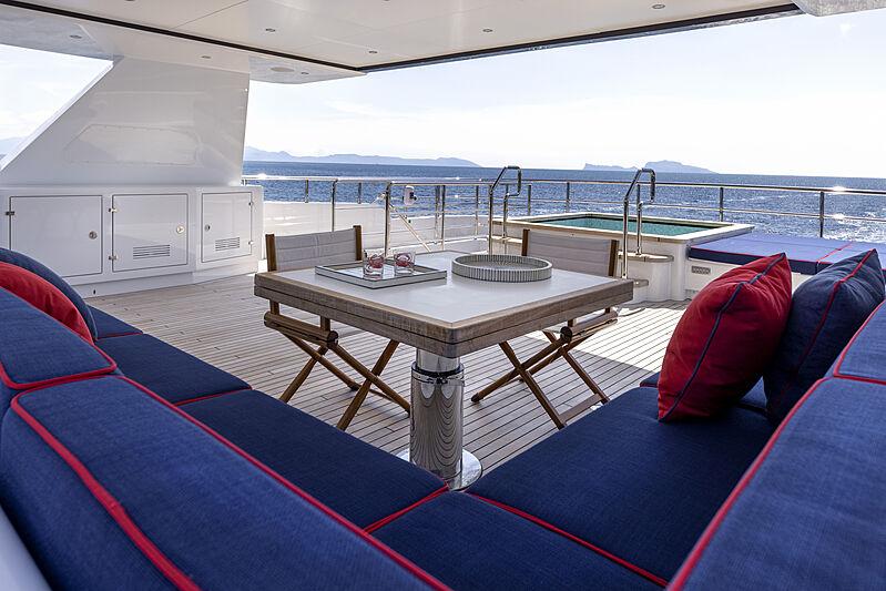 Crowbridge yacht upper deck