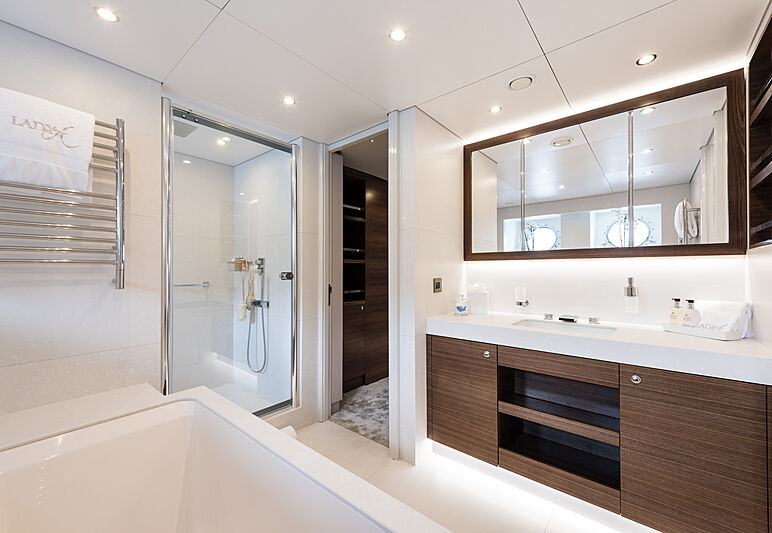 Lady A yacht bathroom